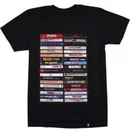 FAMOUS STARS AND STRAPS / HIP HOP TAPES TEE (BLACK)