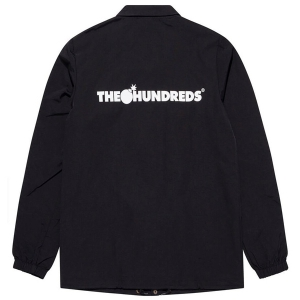 THE HUNDREDS / FOREVER BAR LOGO COACHES JACKET (BLACK)