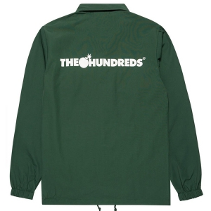 THE HUNDREDS / FOREVER BAR LOGO COACHES JACKET (FOREST GREEN)