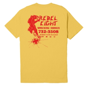 REBEL8 / WRECKERS TEE (BANANA)