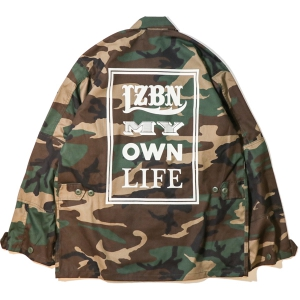 LZBN / FONTS MILITARY SHIRT JACKET (WOODLAND CAMO)