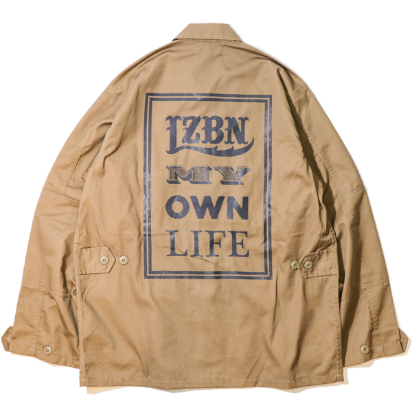 LZBN / FONTS MILITARY SHIRT JACKET (COYOTE BROWN)