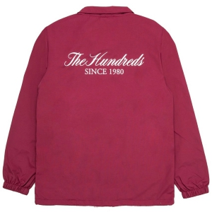 THE HUNDREDS / RICH COACHES JACKET (BURGUNDY)