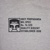 OBEY / HALF FACE MIL SPEC PULLOVER HOODIE (HEATHER GREY)