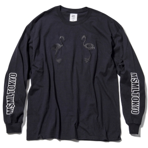 MSML / FLAMINGO EMBROIDERY L/S TEE (BLACK)