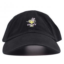 OBEY / BURLESQUE 6 PANEL CAP (BLACK)