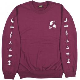 DARK SEAS / COMMON BOND CREW FLEECE (MAROON)