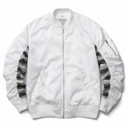 MUSIC SAVED MY LIFE / BOMBER JACKET (WHITE)