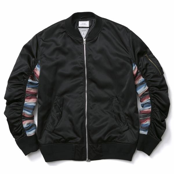 MUSIC SAVED MY LIFE / BOMBER JACKET (BLACK)
