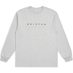 BRIXTON / CANTOR L/S STANDARD TEE (HEATHER GREY)