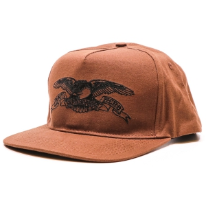 ANTIHERO / BASIC EAGLE SNAPBACK CAP (BROWN/BLACK)