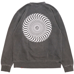 SPITFIRE / CLASSIC SWIRL CREWNECK SWEAT (PIGMENT DYED BLACK)