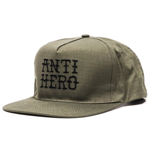 ANTIHERO / FLASHHERO SNAPBACK CAP (ARMY/BLACK)
