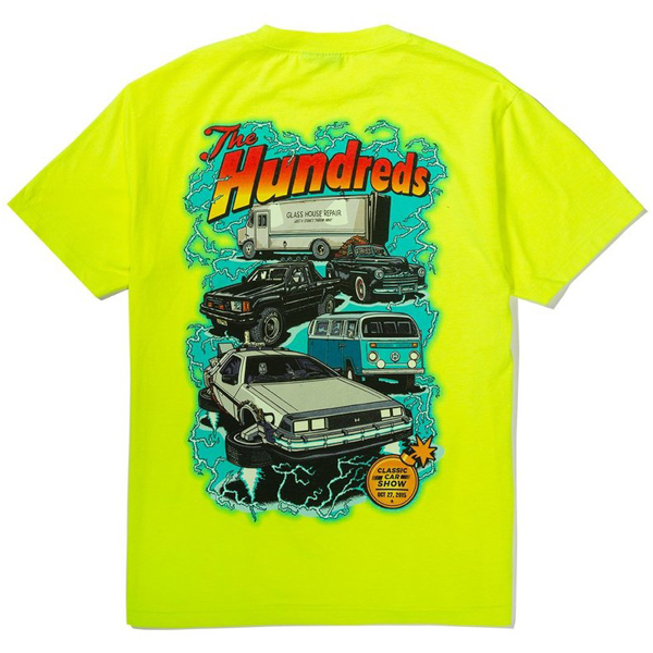 THE HUNDREDS / CAR SHOW OFF TEE (SAFETY GREEN)
