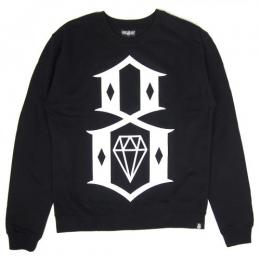 REBEL8 / STANDARD ISSUE LOGO CREWNECK SWEAT (BLACK)