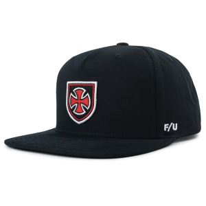 BRIXTON X INDEPENDENT / HEDGE MP SNAPBACK CAP (BLACK)