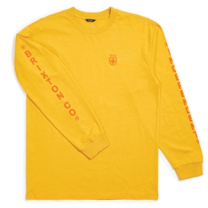 BRIXTON X INDEPENDENT / FRAME L/S STANDARD TEE (YELLOW)