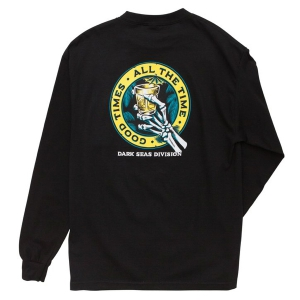 DARK SEAS / LOUNGE TIME L/S STOCK TEE (BLACK)