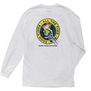 DARK SEAS / LOUNGE TIME L/S STOCK TEE (WHITE)