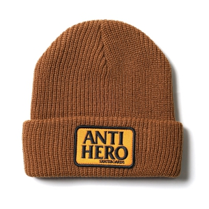 ANTIHERO / RESERVE PATCH CUFF BEANIE (BROWN/ORANGE)