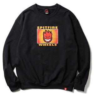SPITFIRE / SPITFIRE LABEL CREWNECK SWEAT (BLACK)
