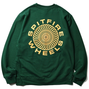 SPITFIRE / CLASSIC 87' SWIRL CREWNECK SWEAT (DARK GREEN)