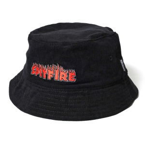 SPITFIRE / FLASH FIRE BUCKET HAT (BLACK)