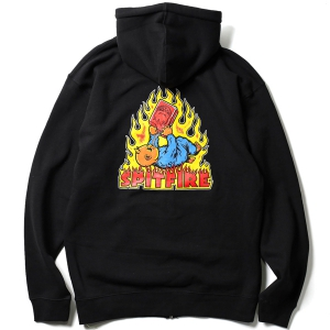 SPITFIRE / DEMONSEED ZIP-UP HOODIE (BLACK)