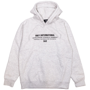OBEY / JUSTICE BY THE PEOPLE PULLOVER HOODIE (ASH GREY)