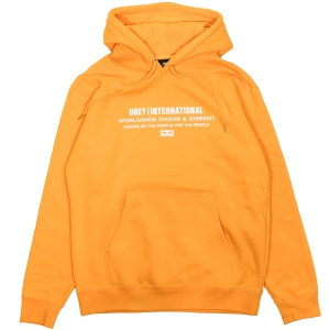 OBEY / JUSTICE BY THE PEOPLE PULLOVER HOODIE (GOLD)