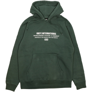 OBEY / JUSTICE BY THE PEOPLE PULLOVER HOODIE (ALPINE)