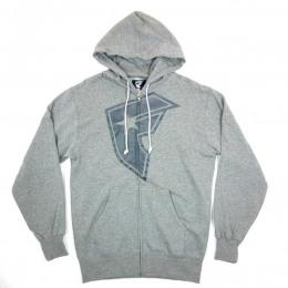 FAMOUS STARS AND STRAPS / OG BOH ZIP HOODIE (HEATHER GREY)