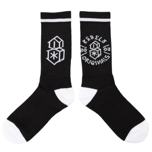 REBEL8 / LORDS III SOCKS (BLACK)