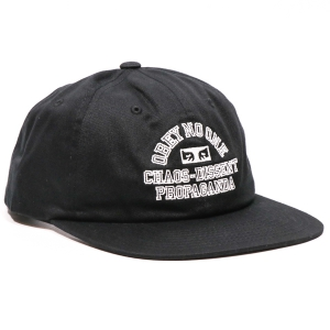 OBEY / MISSION 6-PANEL SNAPBACK CAP (BLACK)