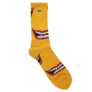 OBEY / LIPS SOCKS (MINERAL YELLOW MULTI)