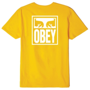 OBEY / OBEY EYES ICON BASIC TEE (GOLD)