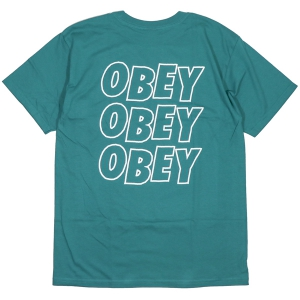 OBEY / OBEY JUMBLED EYES BASIC TEE (TEAL)