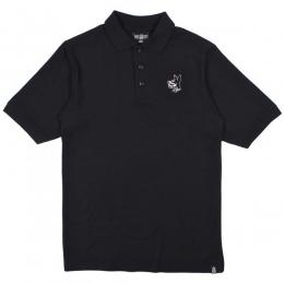 REBEL8 / PROPER FUCKED POLO SHIRT (BLACK)