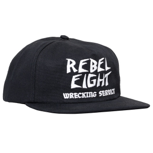 REBEL8 / WRECKERS LP SNAPBACK CAP (BLACK)
