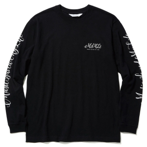 MSML / CURSIVE LONG SLEEVE TEEE (BLACK)