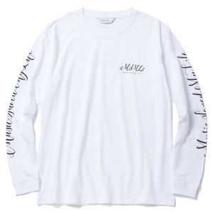 MSML / CURSIVE LONG SLEEVE TEEE (WHITE)