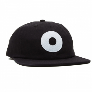 OBEY / BLOCK 6 PANEL STRAPBACK CAP (BLACK)