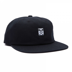 OBEY / ICON FACE 6 PANEL STRAPBACK CAP (BLACK)