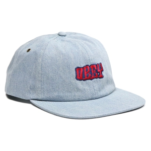 OBEY / CAMPBELL 6 PANEL CAP (LIGHT DENIM)