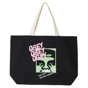 OBEY / THE NEXT WAVE TOTE BAG (BLACK)