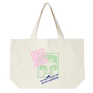 OBEY / THE NEXT WAVE TOTE BAG (NATURAL)