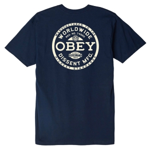 OBEY / OBEY DISSENT STANDARDS BASIC TEE (NAVY)