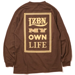 LZBN / FONTS L/S TEE (COFFEE)