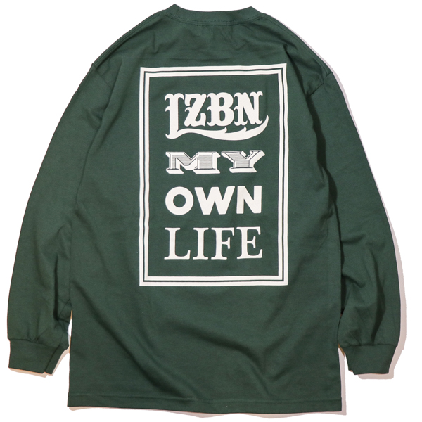 LZBN / FONTS L/S TEE (FOREST GREEN)