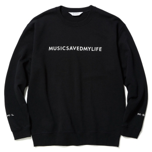 MSML / MUSICSAVEDMYLIFE SWEAT (BLACK)